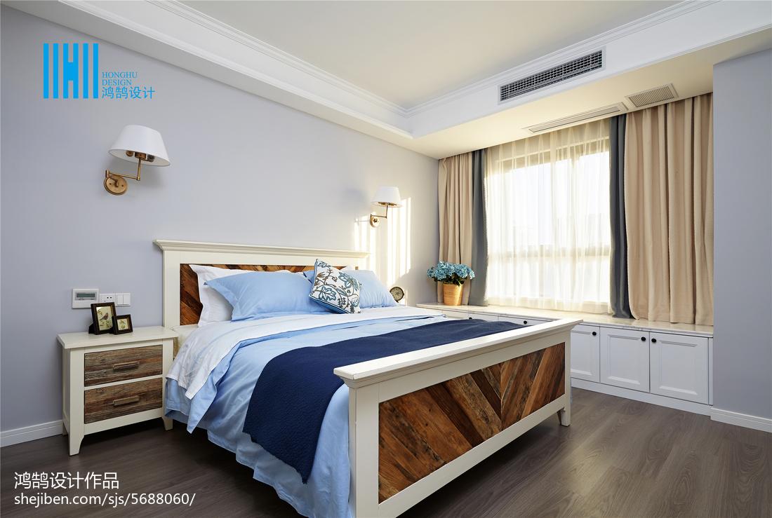 精美面积91平美式三居卧室装修设计效果图片大全
