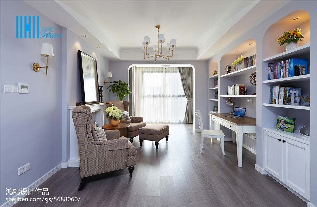 大小90平美式三居客厅装饰图片大全