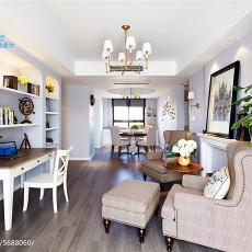 2018精选面积101平美式三居客厅实景图片欣赏