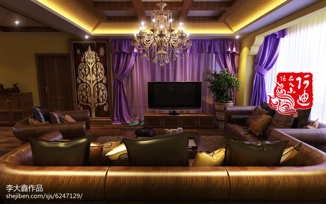 精美面积72平现代二居装修效果图片大全