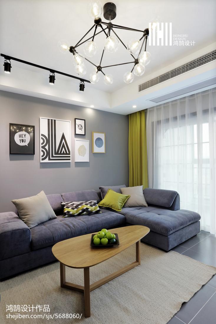 77平米二居客厅北欧欣赏图片大全