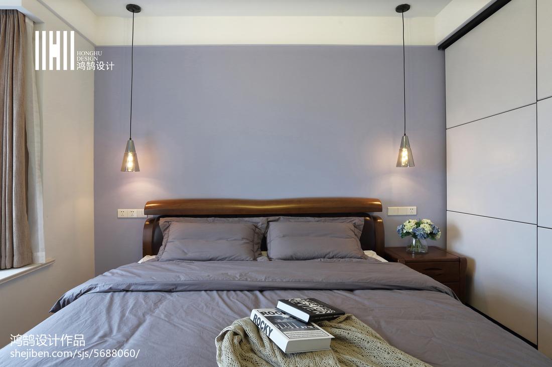 优雅81平北欧二居卧室装修装饰图