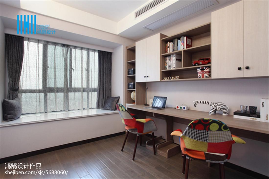 质朴126平现代三居书房设计美图