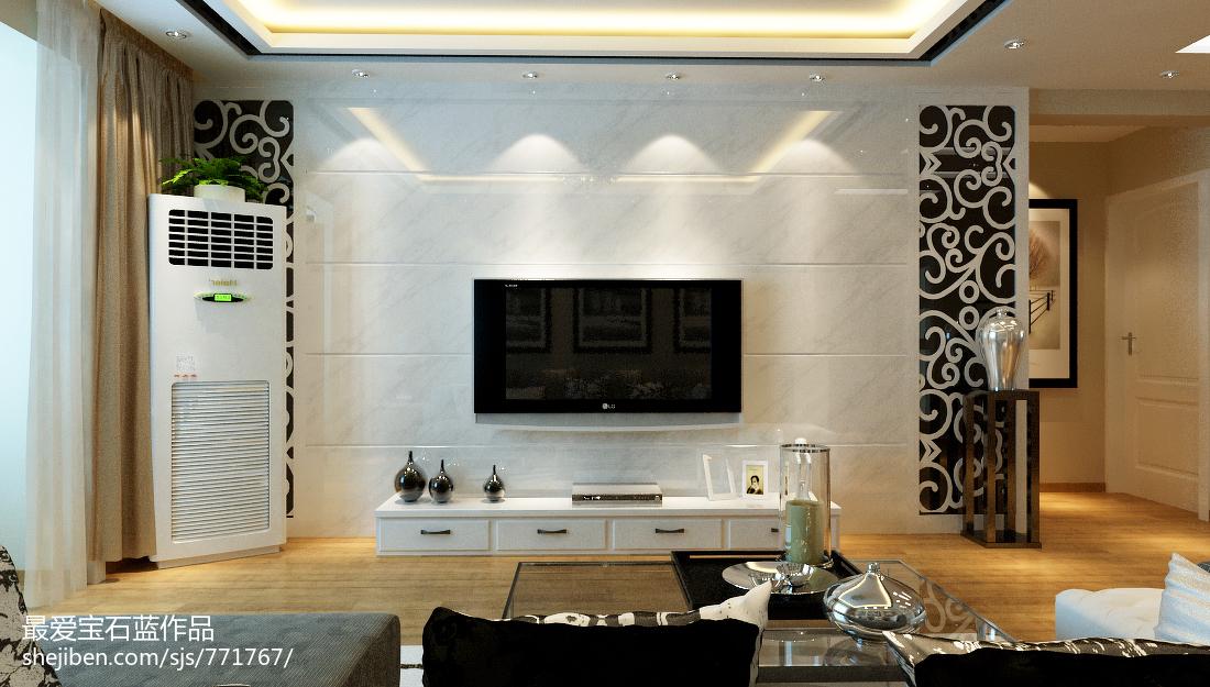 精美124平米现代复式客厅装修效果图