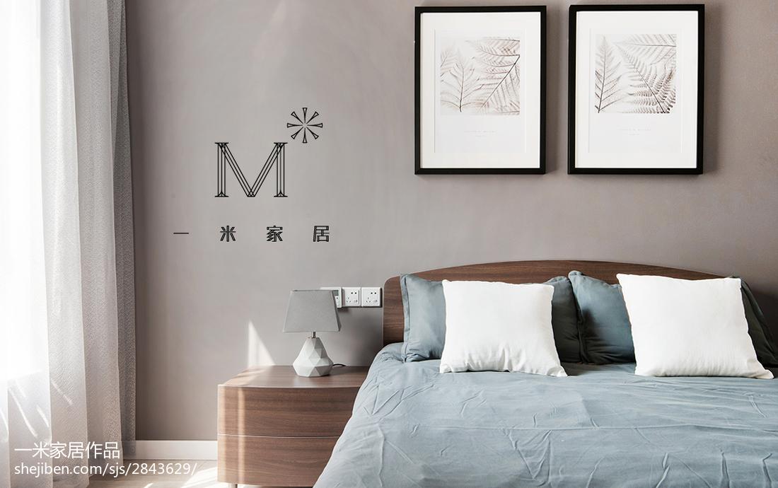 2018精选97平方三居卧室现代欣赏图