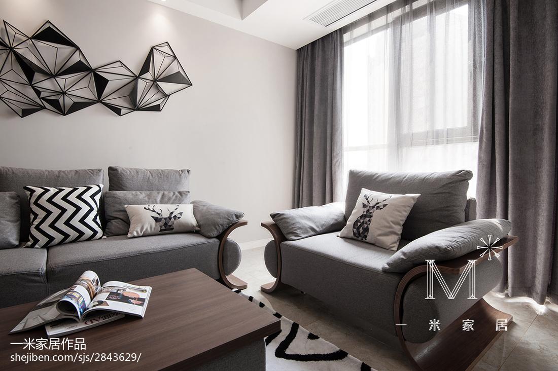 明亮77平现代三居客厅装潢图