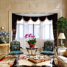 热门大小126平别墅客厅欧式实景图片欣赏