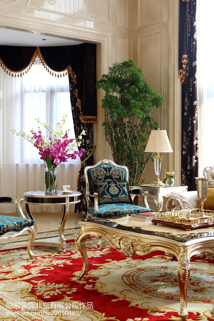 精美大小141平别墅客厅欧式效果图片欣赏
