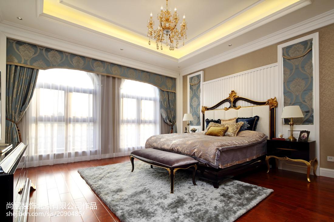 面積121平別墅臥室歐式裝飾圖