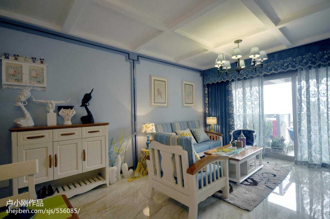 精选72平方二居客厅现代装修设计效果图片