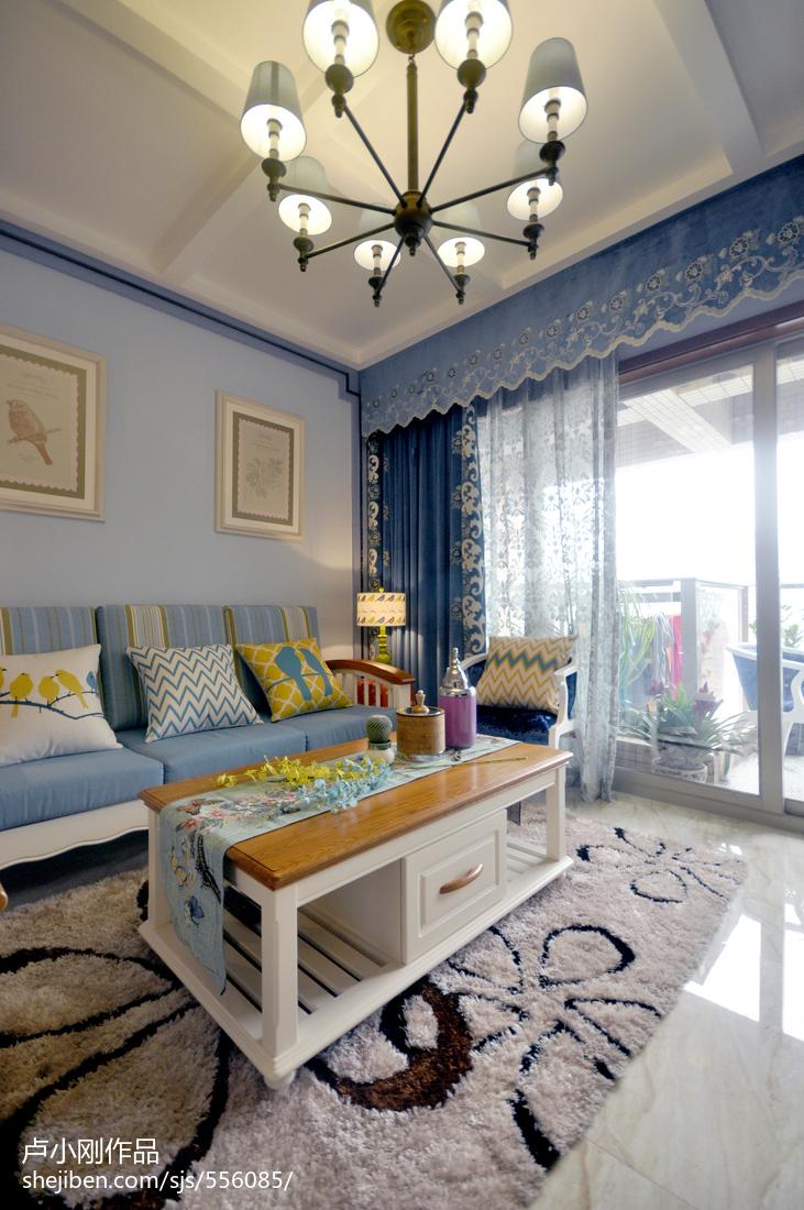 精选面积88平现代二居客厅装修图