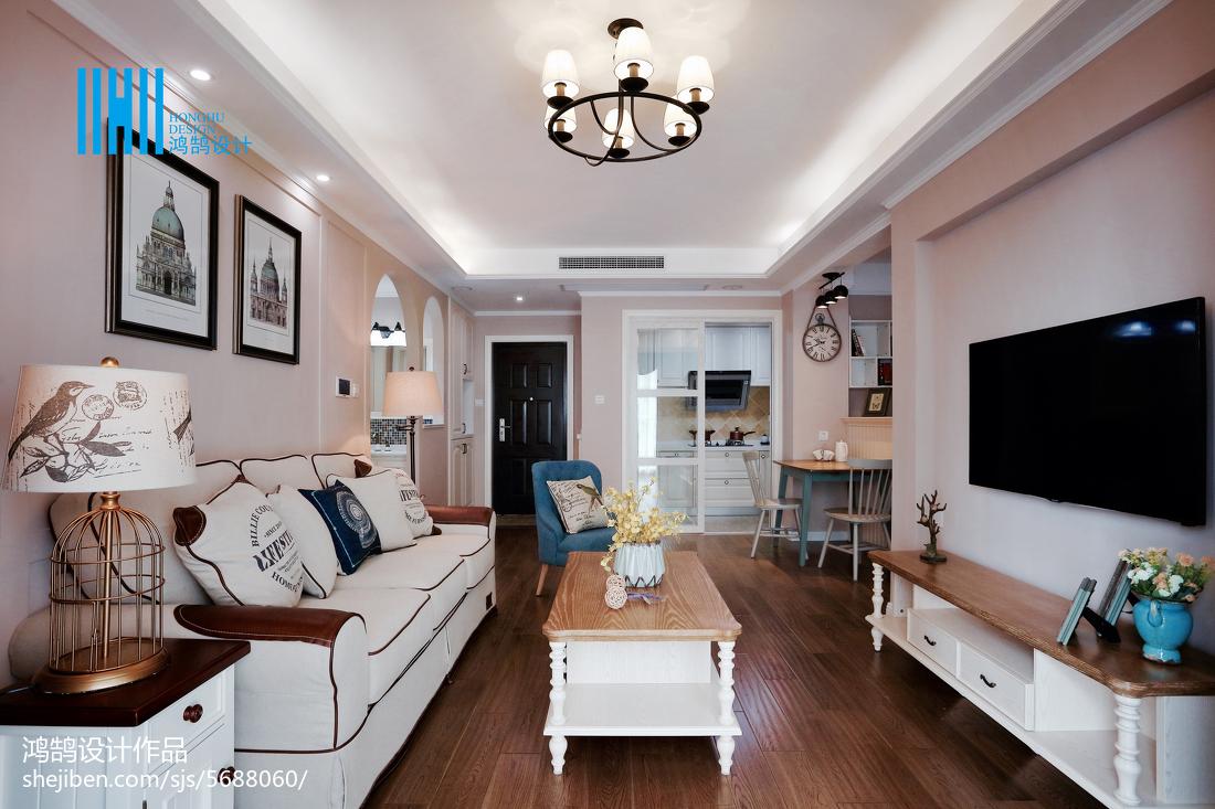 精选二居客厅美式装修欣赏图片