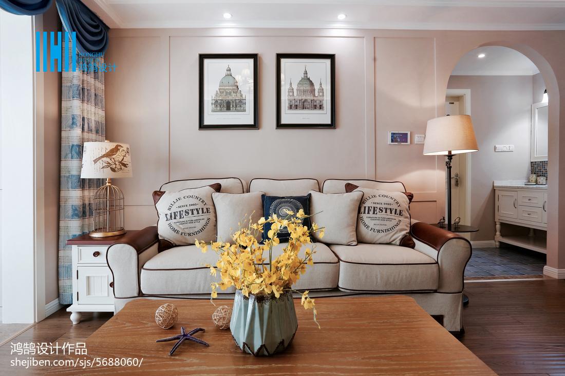 2018美式二居客厅实景图片欣赏