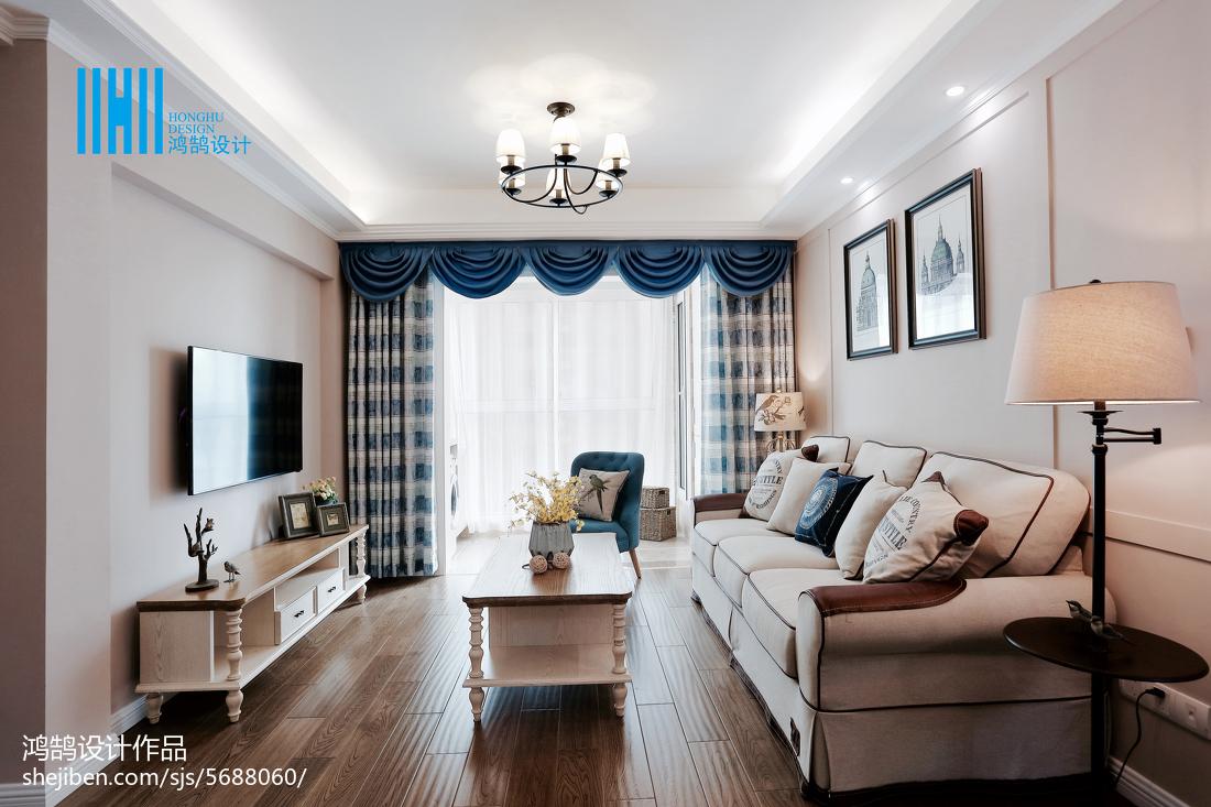 精美美式二居客厅效果图片大全