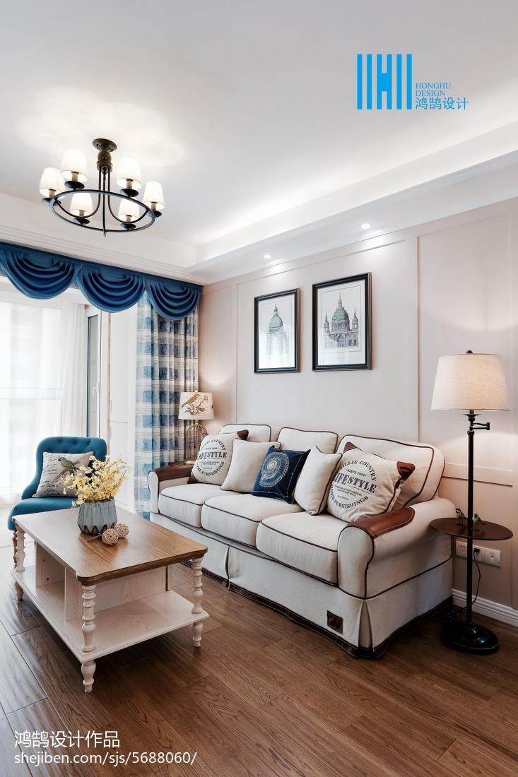 悠雅75平美式二居客厅装修图