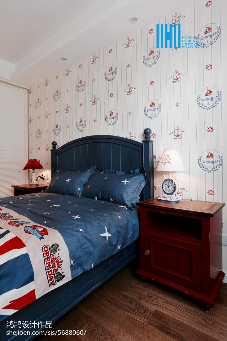 温馨63平美式二居儿童房装修图片