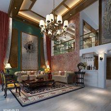精美面积126平别墅客厅东南亚装饰图片欣赏