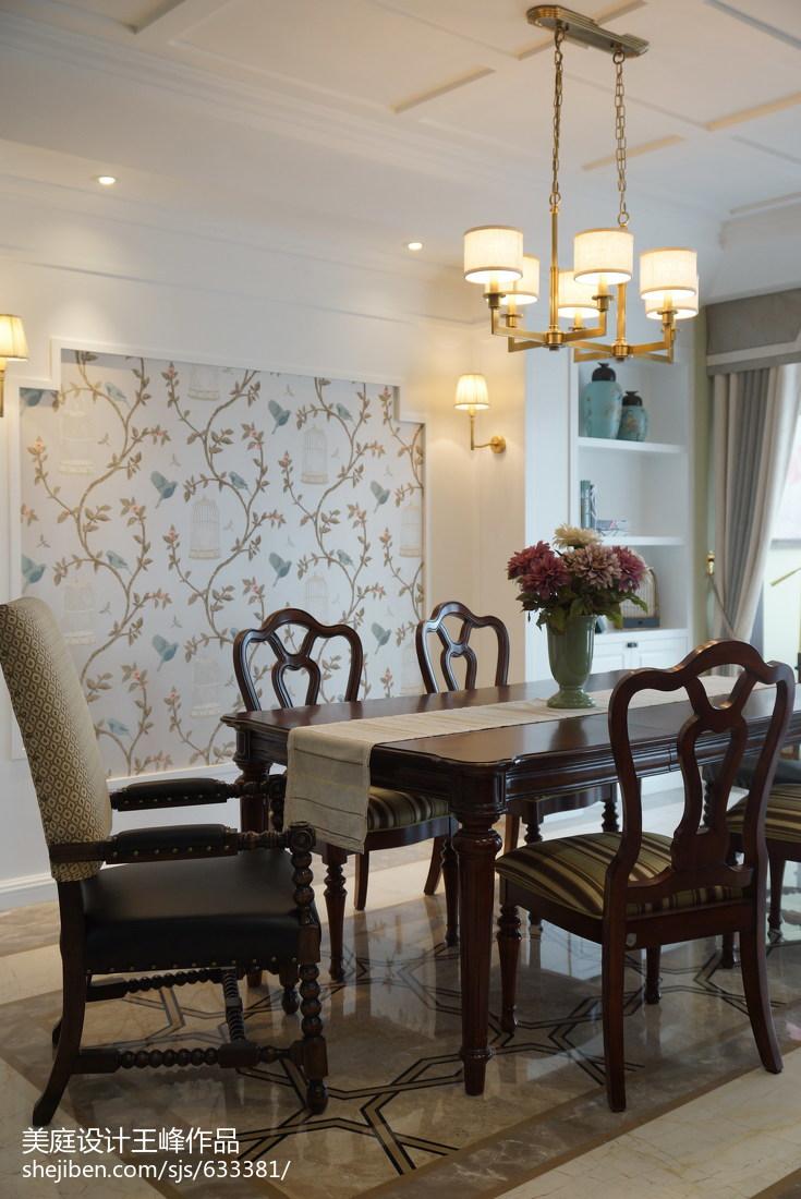 面积134平复式餐厅美式装修欣赏图片