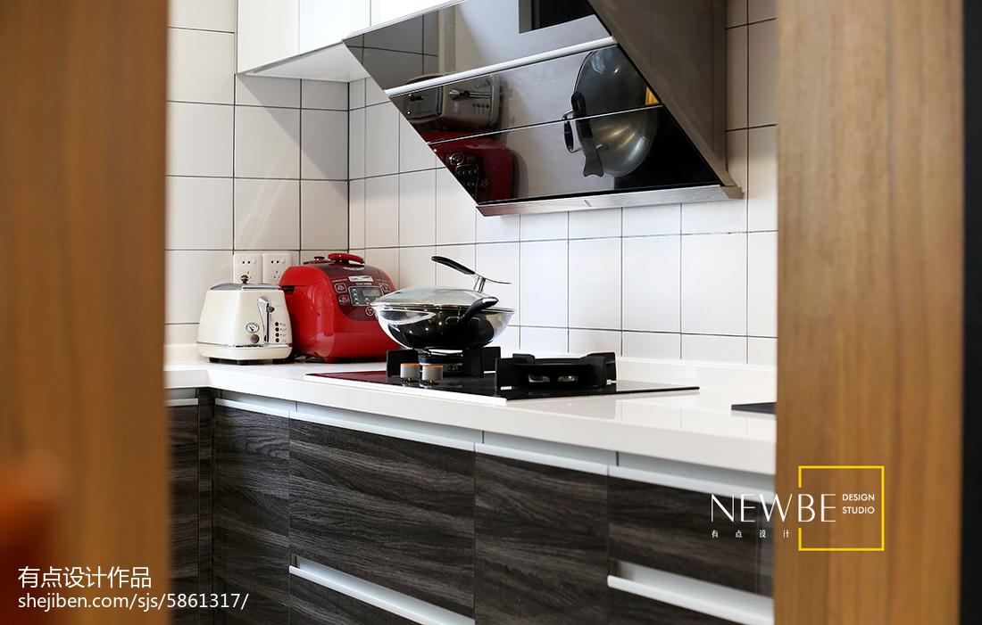 質樸67平簡約二居廚房裝修效果圖