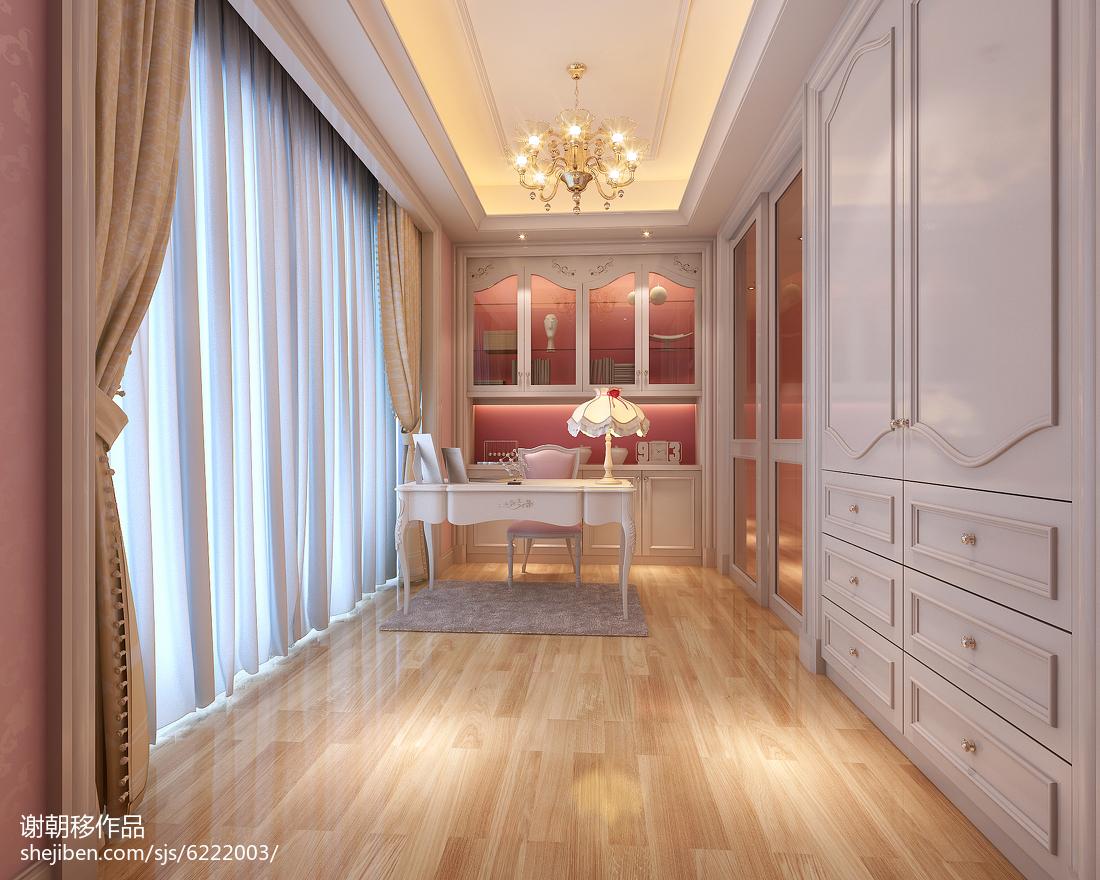 2018139平米欧式别墅书房装修设计效果图片欣赏