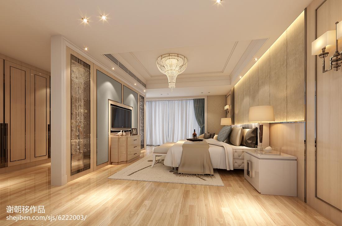 2018142平米欧式别墅卧室装修设计效果图