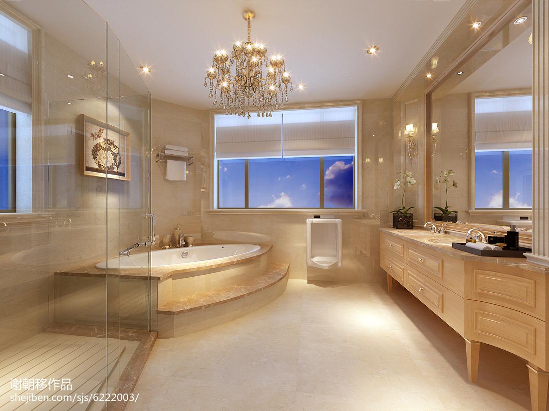 大小135平别墅卫生间欧式装修图片欣赏