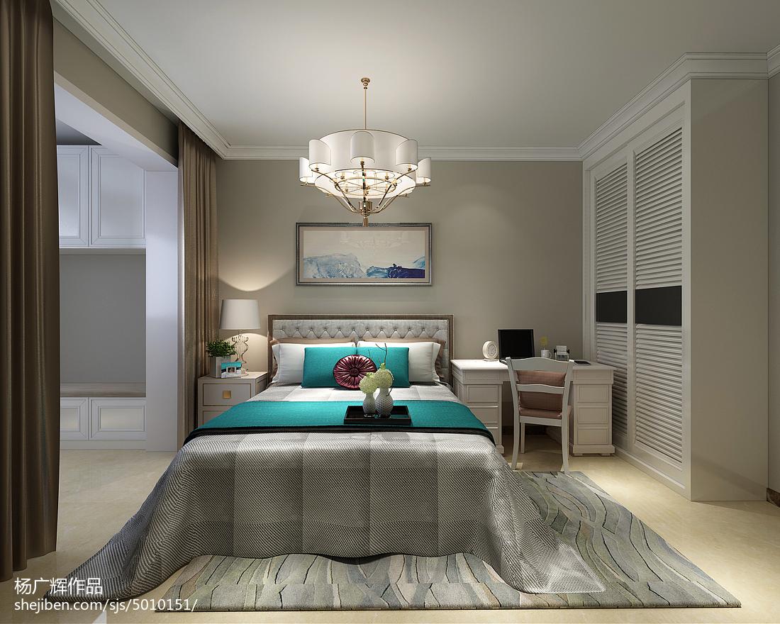 105平米三居卧室简约装修效果图