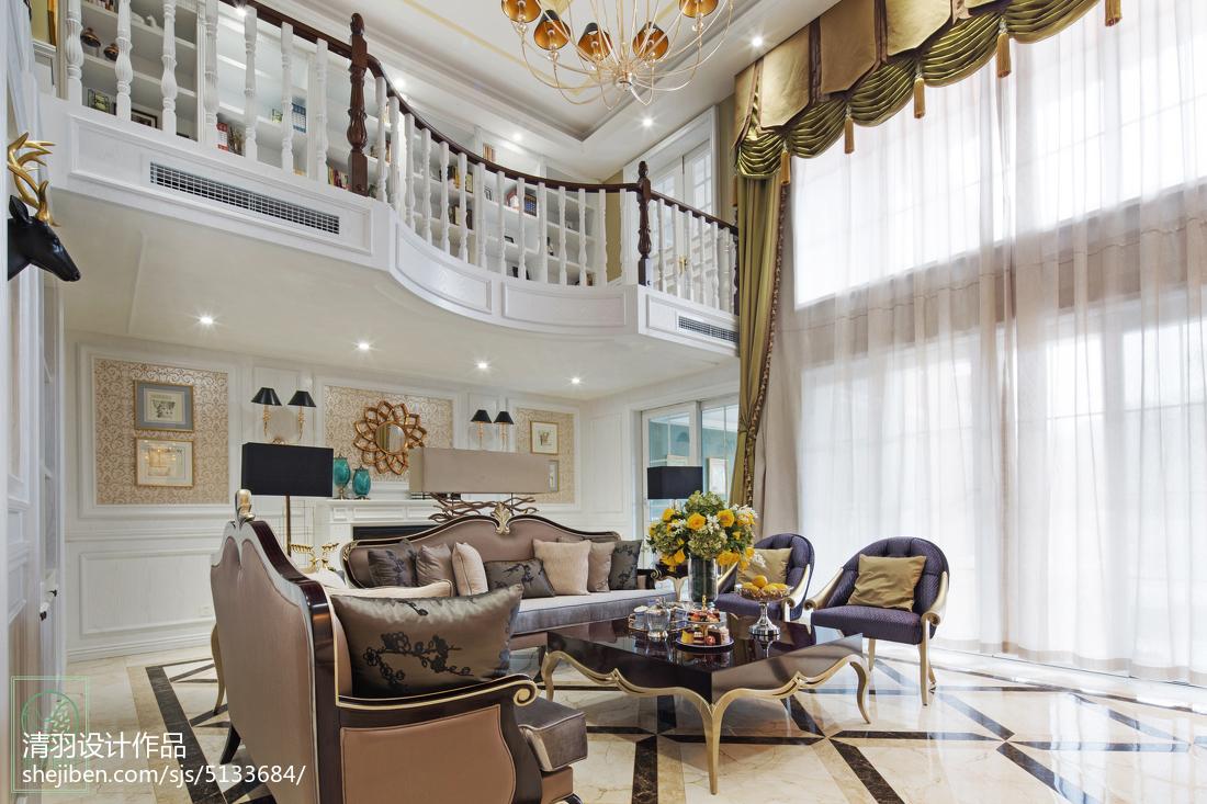 精美新古典别墅客厅装修图片欣赏