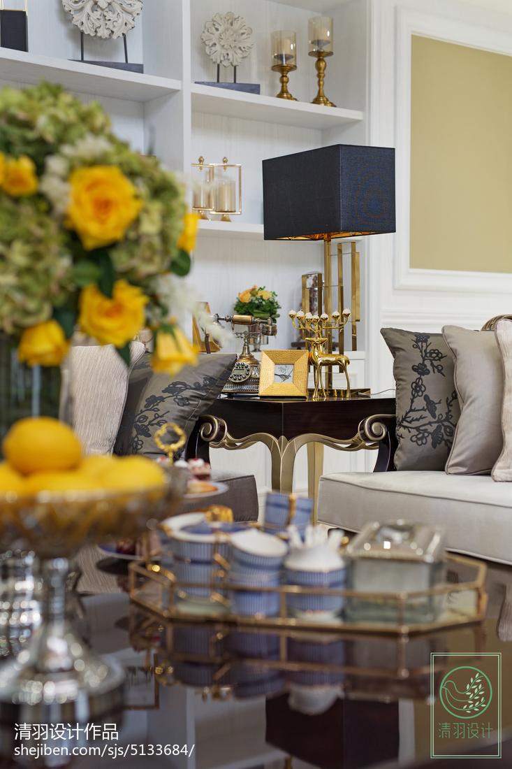 面积123平别墅客厅新古典装修欣赏图片大全
