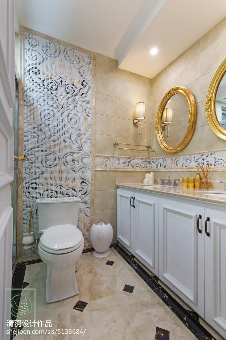 精选面积117平别墅卫生间新古典装修设计效果图