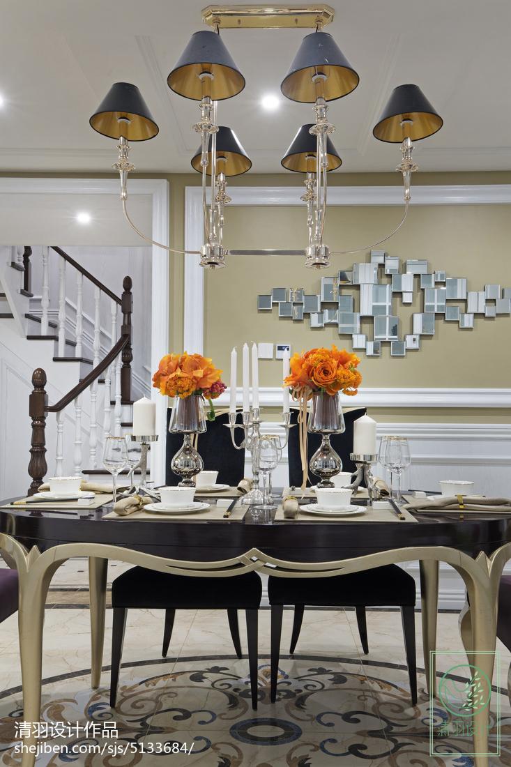 精美137平米新古典别墅餐厅装饰图片