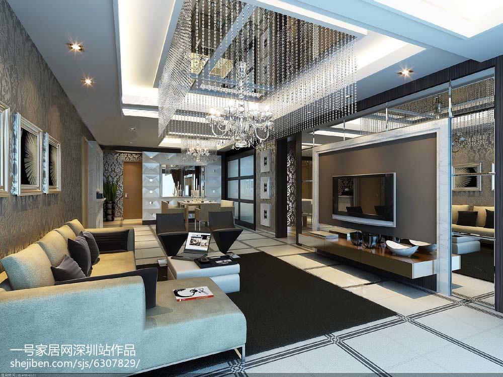 低奢质感现代化二居室装修效果图