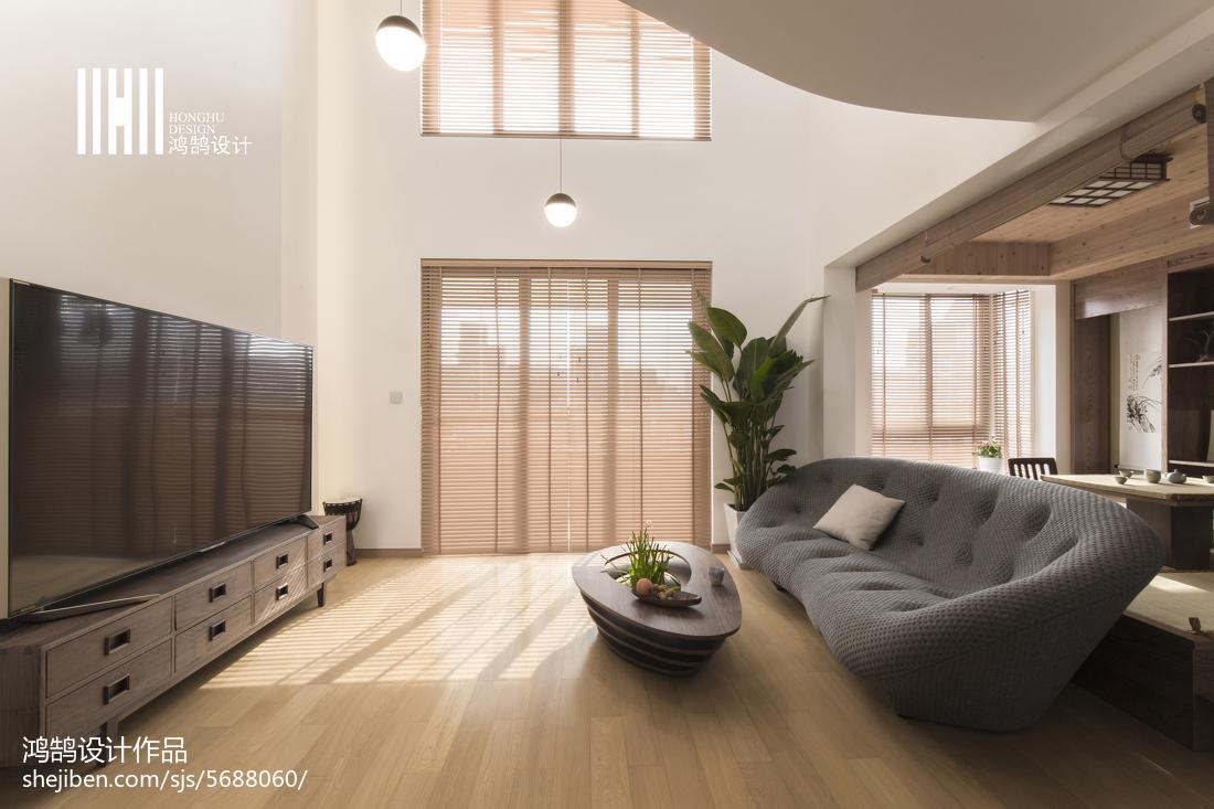 精美复式客厅日式装修效果图片