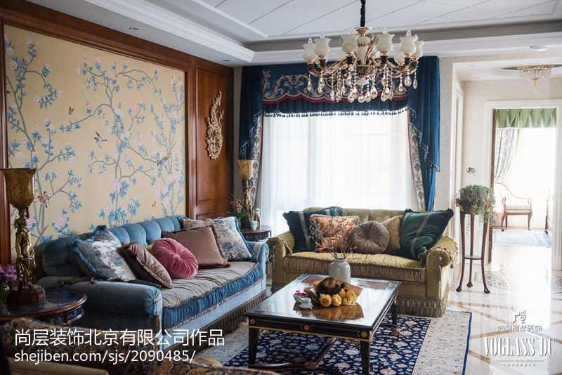 2018精选面积141平别墅客厅混搭装修欣赏图片大全