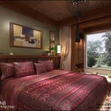 精美面积84平东南亚二居卧室装修效果图片
