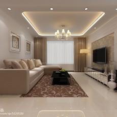 面积90平简约二居客厅装修效果图片大全