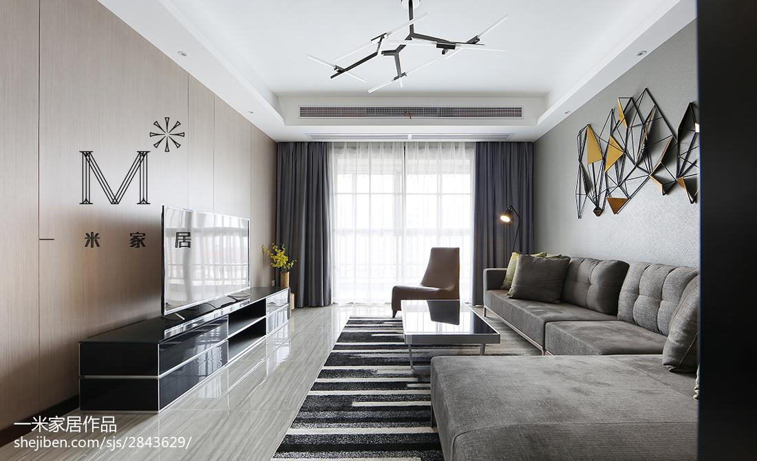华丽87平现代三居装修案例