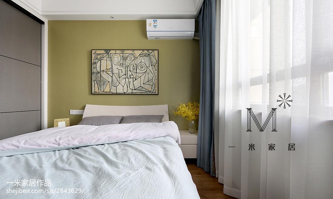 2018精选面积104平现代三居卧室装修设计效果图片