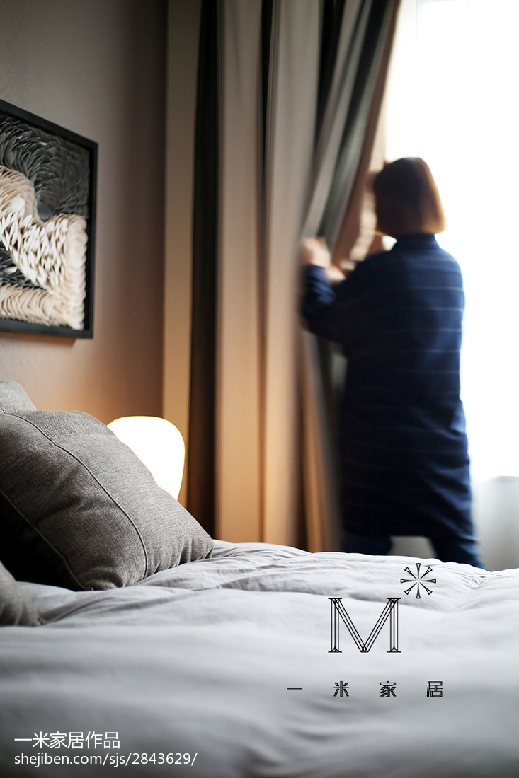 面积99平现代三居卧室装修图
