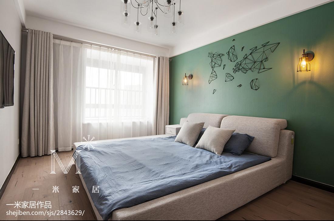 温馨124平现代三居装修图片