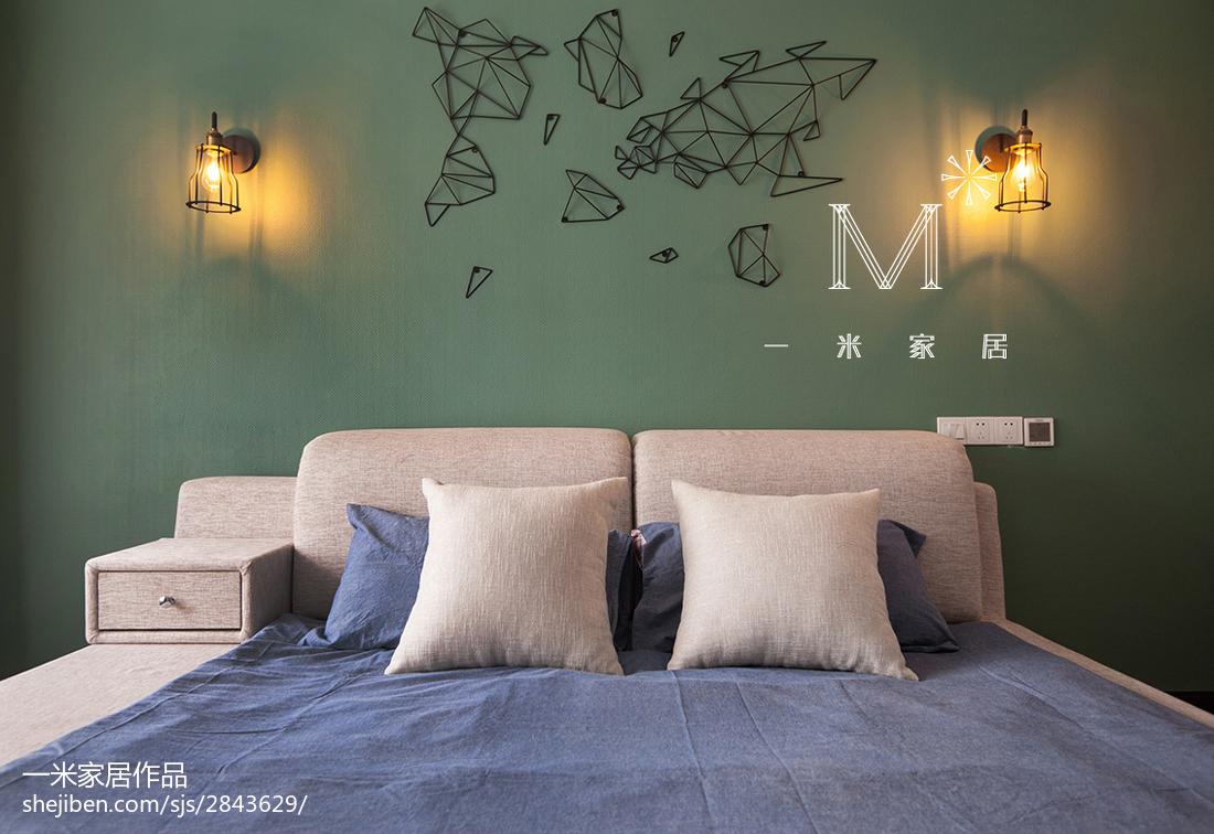热门101平方三居卧室现代装饰图