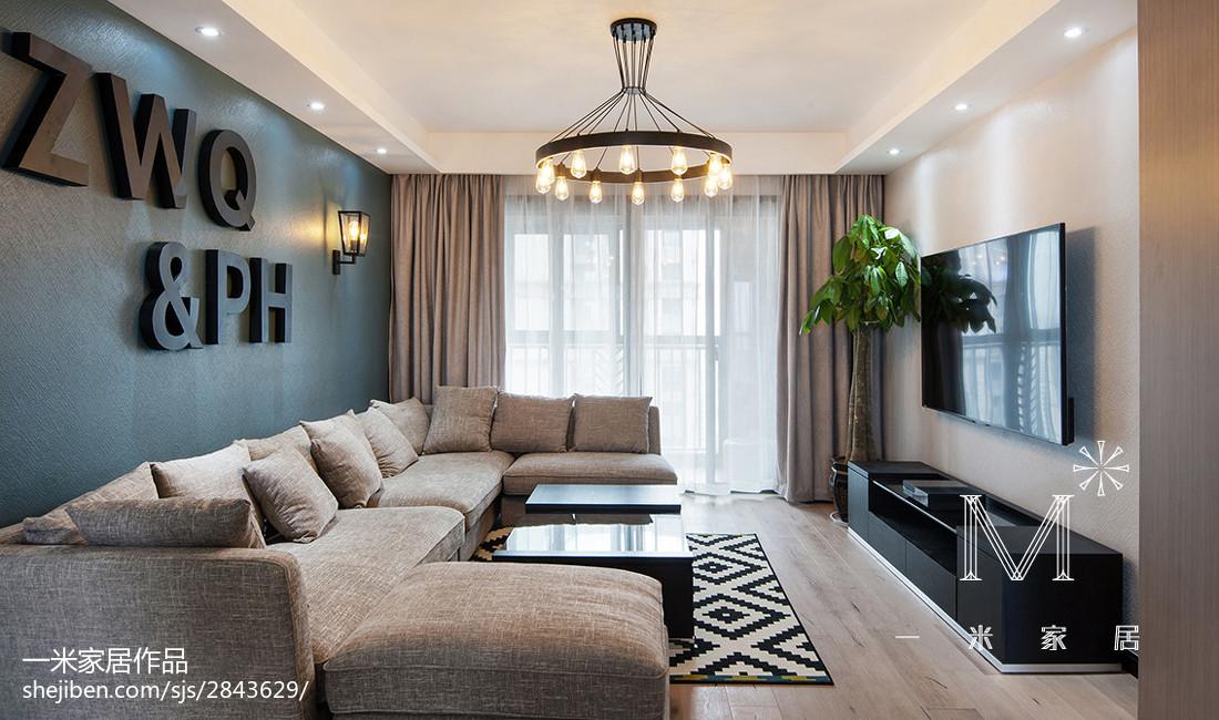 典雅100平现代三居装修图