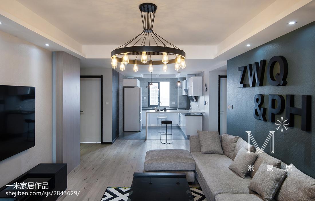 精选面积95平现代三居客厅欣赏图片