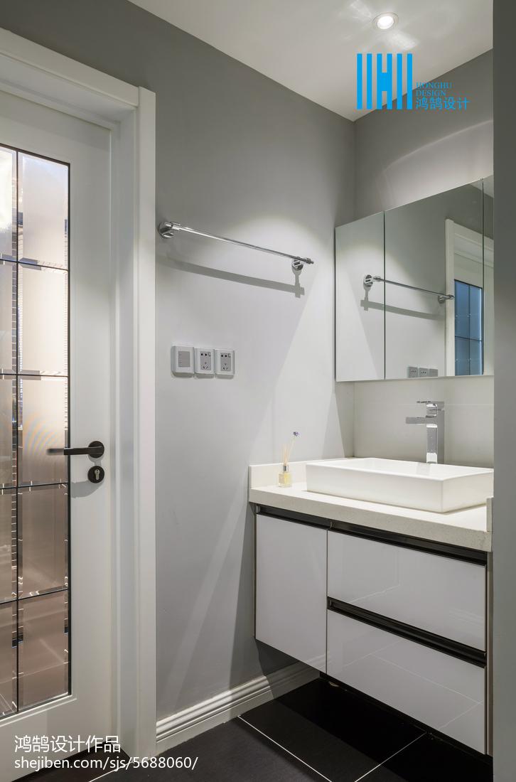 热门89平米二居卫生间简约装饰图片大全