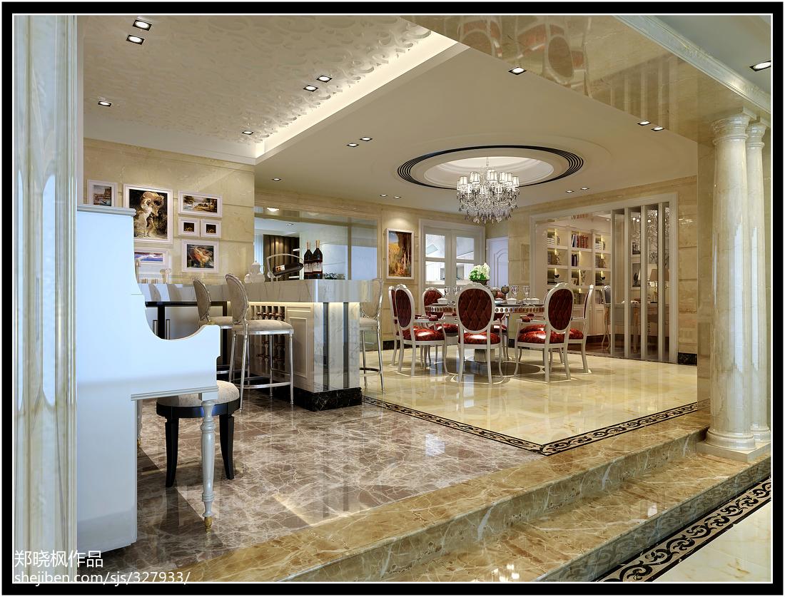 豪华欧式古典家居餐厅设计
