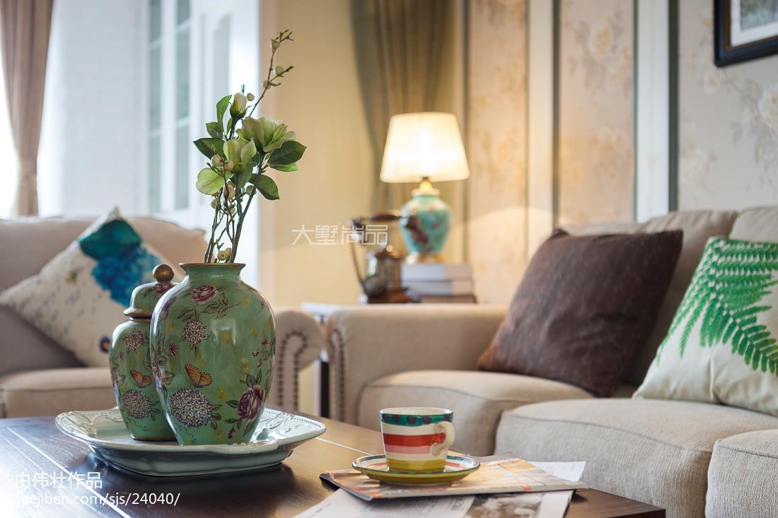 精美128平米四居客厅地中海装修效果图片
