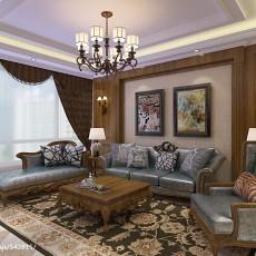 热门105平方三居客厅美式装饰图