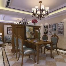 大小105平美式三居餐厅装修效果图片大全