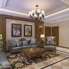 精美97平方三居客厅美式欣赏图片