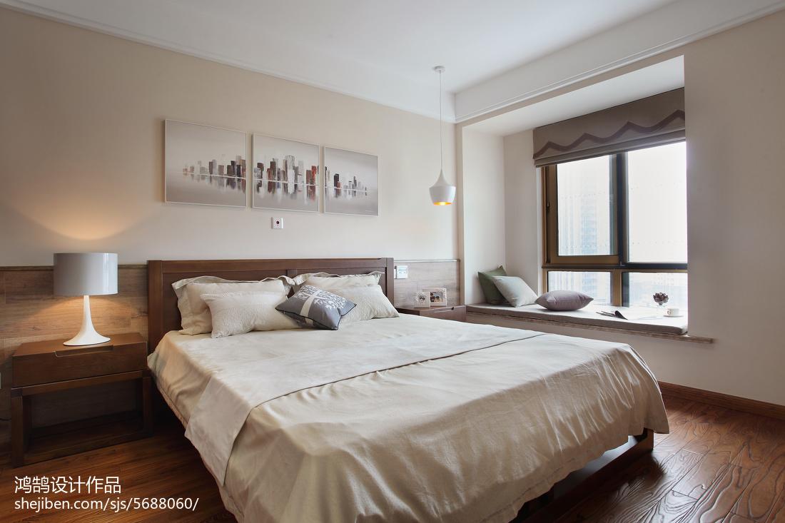 精选大小93平简约三居卧室装修设计效果图片欣赏